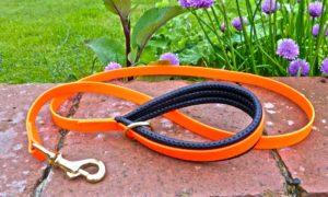 BETA® Orange Dog Lead With Padding-0