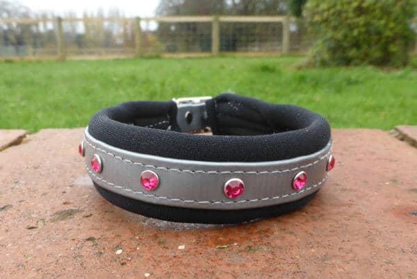 Padded Bling Dog Collar-0