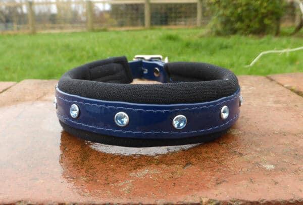 Padded Bling Dog Collar-1400